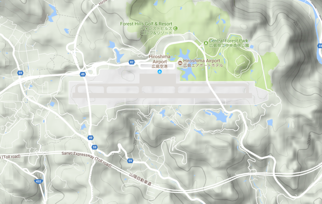 Hiroshima Airport Location