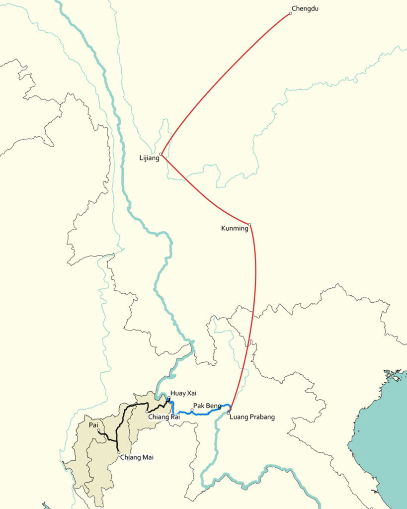 Upper Mekong Overview Map
